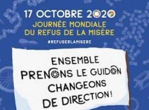 Read more about the article 17.10.20 – journée mondiale du refus de la misère et de la pauvreté