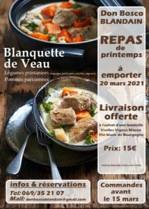 Read more about the article Don Bosco Blandain – Repas de printemps à emporter