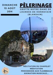 Read more about the article 15/08/2021 … pèlerinage à la Grotte d'Honnevain